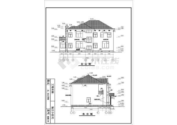 某农村两层砖混结构住宅楼建筑设计方案图