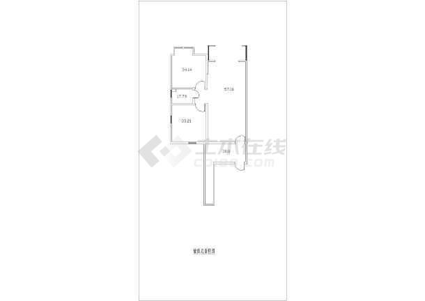 某小区两室一厅平面布置图施工设计图