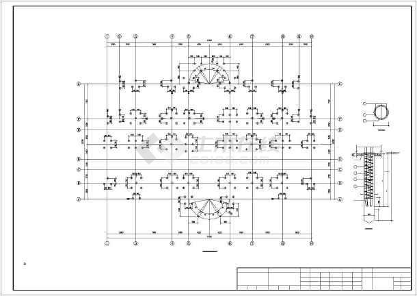 某地4层办公室图纸结构设计施工图_cad图纸下在手怎么不机上打框架开电子版怎么办图片