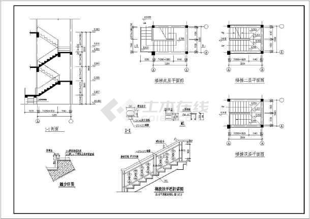 某三层双拼阁楼别墅建筑设计图(长15.9米 宽11.7米)