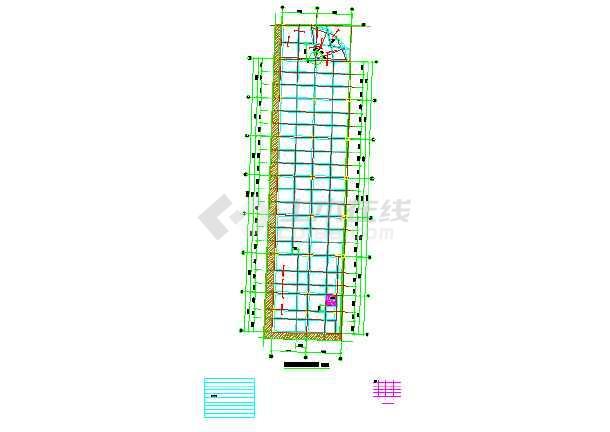 地上二层框架结构租赁房结构施工图