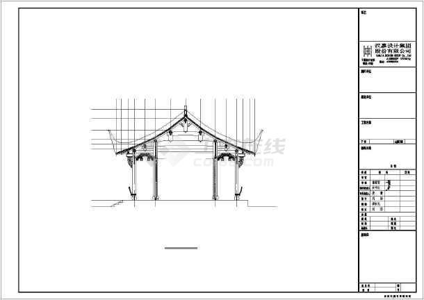 木结构古建筑建筑施工图