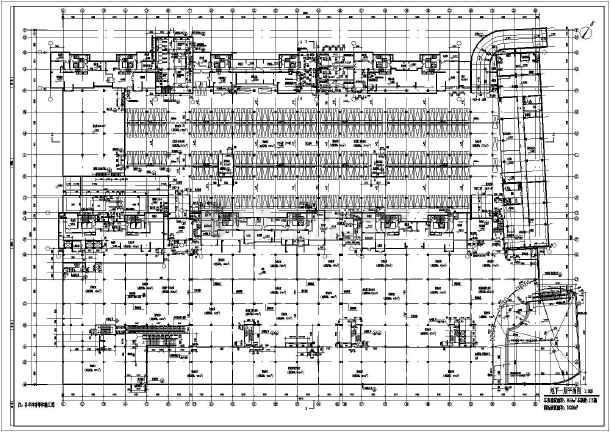 某广场地下车库及商场全套建筑设计图图片