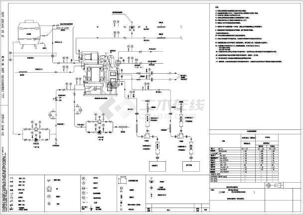 某工程燃气锅炉结构及电气线路设计图