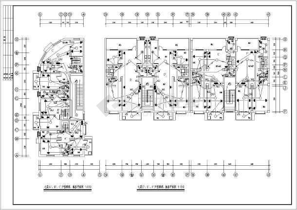 某七层框架结构商住楼电气设计施工图