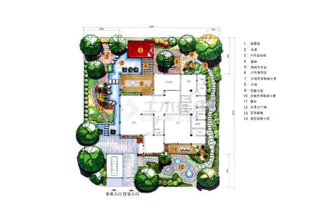 图纸 建筑图纸 别墅图纸 别墅设计图 别墅景观  投稿网友:chang88aa