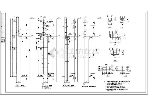 某地单层钢筋砼排架结构厂房设计施工图