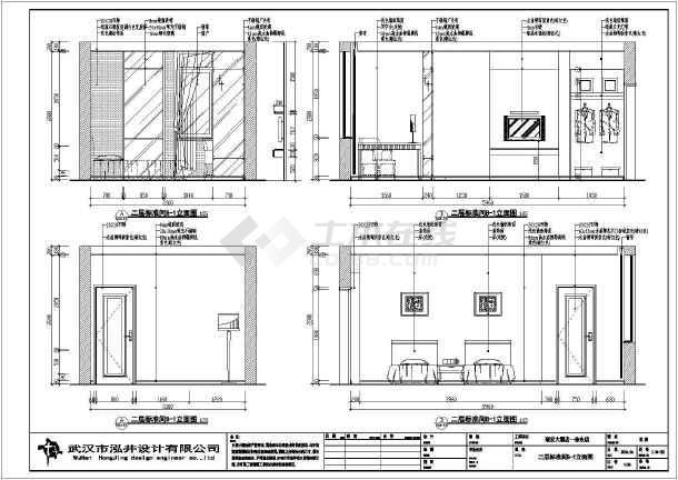 武汉某酒店标准间客房室内装修设计施工图