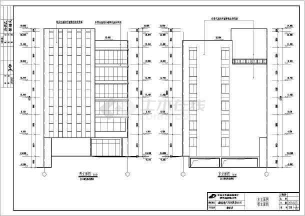 某地六层框架结构沿街商业宾馆建筑方案设计图