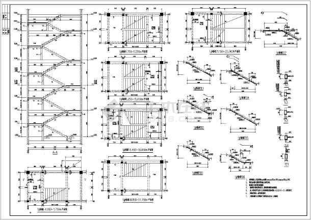 工程项目典型双跑楼梯结构施工图