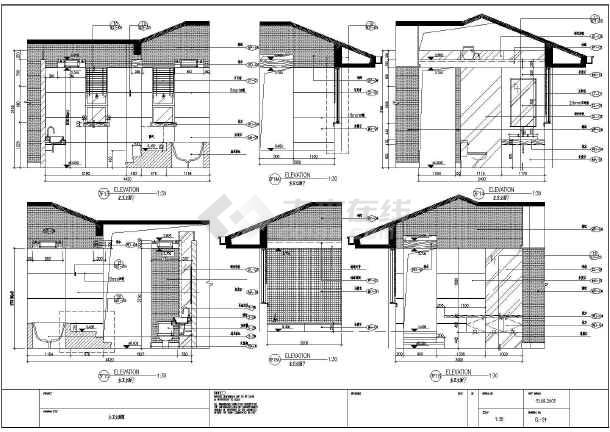 成都某地高山流水别墅家装设计施工图