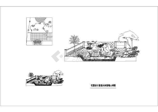 重庆棕榈泉别墅区庭院景观设计施工图