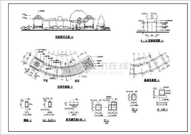 某地区公园景观设计施工图纸(节点图丰富)