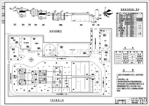 饲料厂平面设计图_某地净水厂高程流程图及总平面布置图_cad图纸下载-土木在线