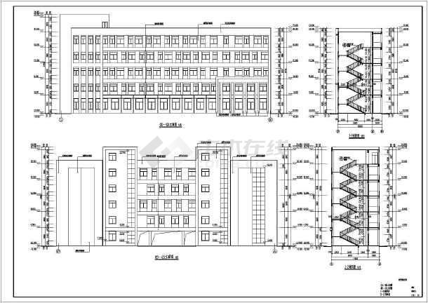 图纸 建筑图纸 教育建筑 中学教学楼设计图 某学校五层综合教学楼建筑图片