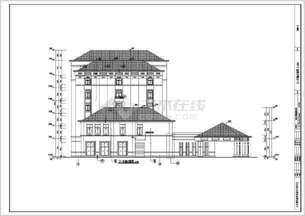 设计说明,各层平面图,屋顶平面图,各立面图,各剖面图,楼梯及核心筒