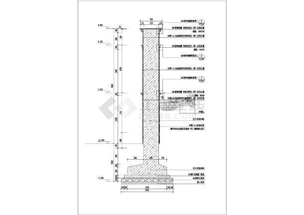 浙江省某小区围墙建筑结构全套设计图
