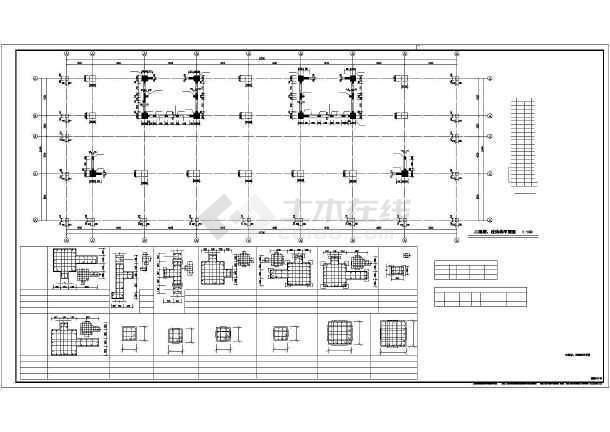 20层桩基础筏板基础框架结构图墙柱采用手配钢筋全套结构图