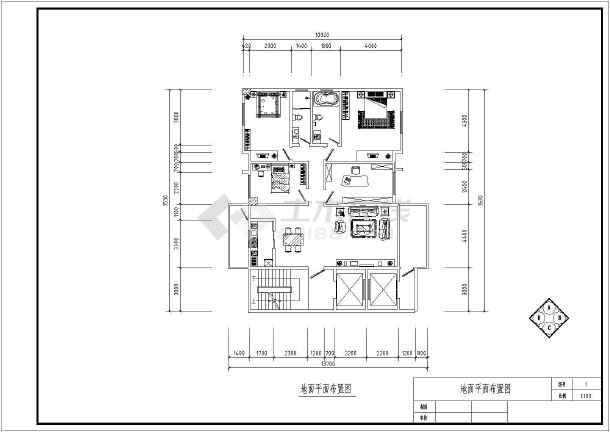 某建筑室内平面布置图