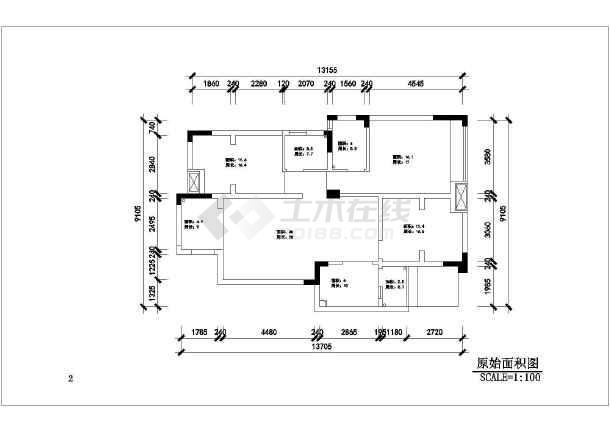 三室两厅装修设计图纸