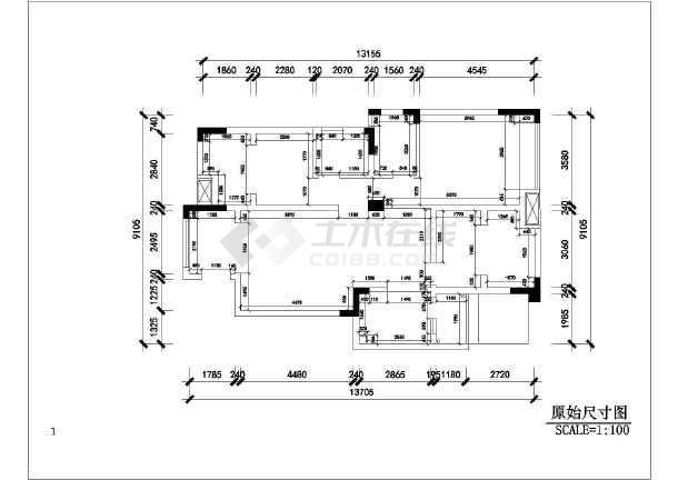 欧式三室两厅住宅室内装修设计图纸图片