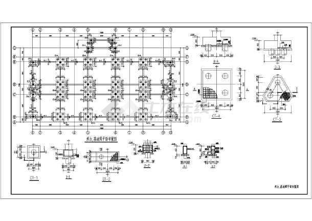 某地2层框架结构商场结构设计方案图