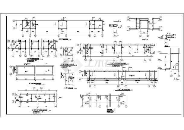 某工厂大门建筑,结构设计施工图纸
