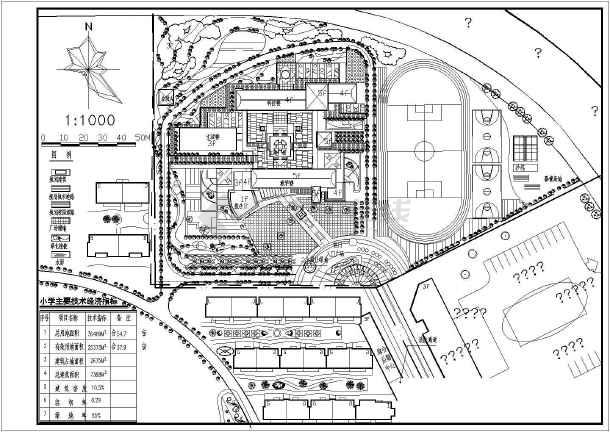 某地住宅小区总平面规划设计cad图纸图片