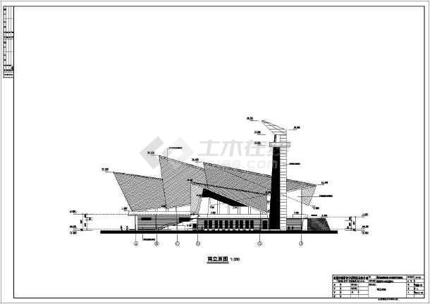 【江苏】丹顶鹤造型异形建筑建筑设计图纸