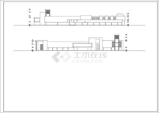 超市装修设计cad图纸(含效果图)