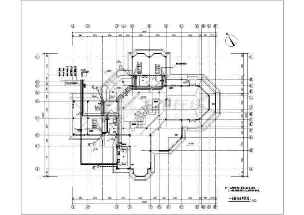 某地二层农家室内给排水设计施工图图片1