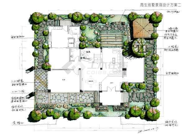 某别墅手绘方案_cad图纸下载-土木在线