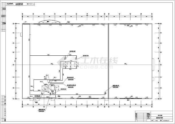 简介:某药厂车间建筑给设计施工图,设计范围包括:卫生间生活给水系统