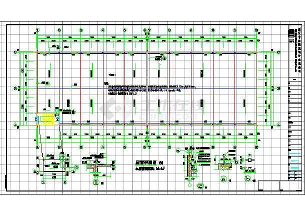 某企业两层框架结构厂房建筑设计施工图