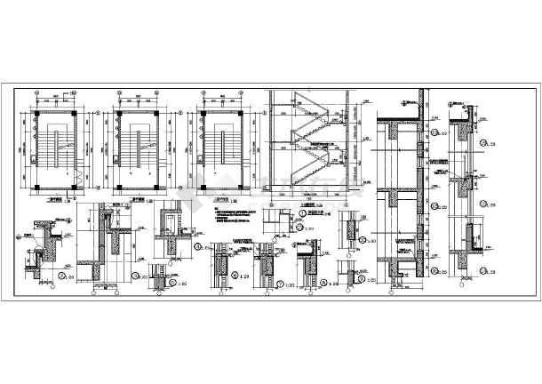 某三层框架结构小型办公楼建筑施工图