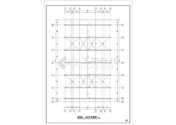 厂房结构设计  轻钢结构厂房  某地汽车展厅混凝土柱钢构屋顶结构施工