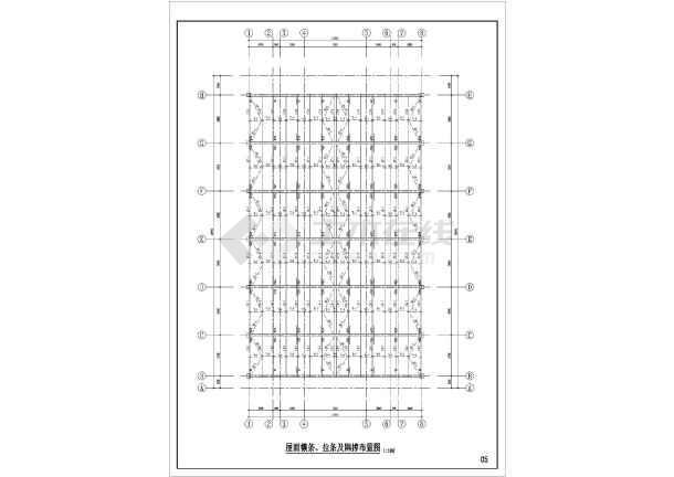 钢构屋顶结构施工图