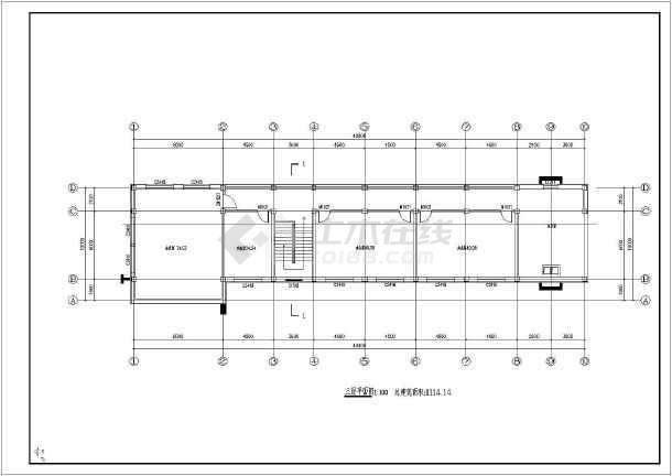 某三层办公楼建筑设计方案含效果图