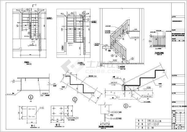 某住宅楼钢九宫设计图纸构造详指标节点图规划图纸含义楼梯框图片