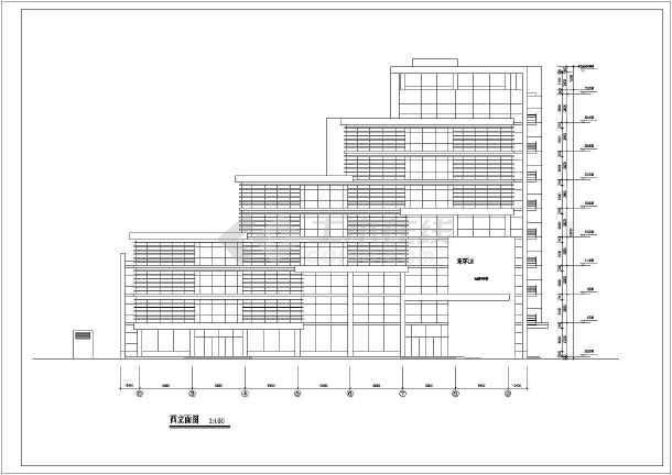 某地10层框架结构退台式写字楼建筑设计方案图图片