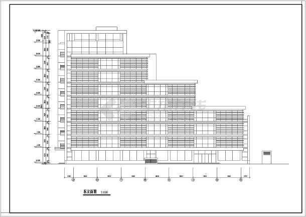 10层框架结构退台式写字楼建筑设计方案图,图纸内容包含:各层平面图图片