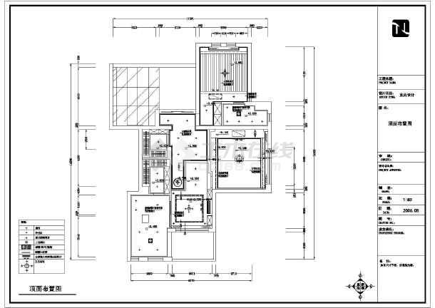 该图纸为某地两层砖混结构别墅室内装修设计施工图,包括:原始结构图