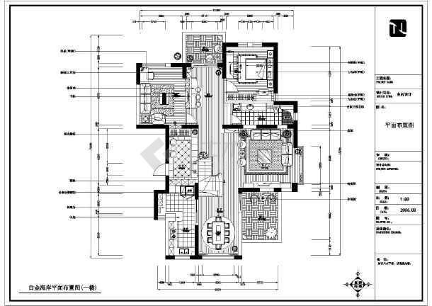 某地两层砖混结构别墅室内装修设计施工图图片
