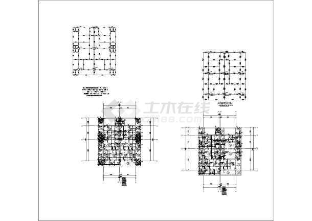 某地区四层框架结构出租屋结构施工图