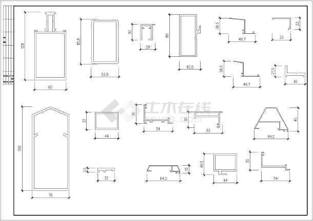 玻璃铝合金大样、图纸装饰镀膜安装钢化型材图平台v玻璃常用房屋图片