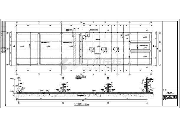 简介:本工程为地下非闭式矩形现浇钢筋混凝土水池,水池容积约为2400m