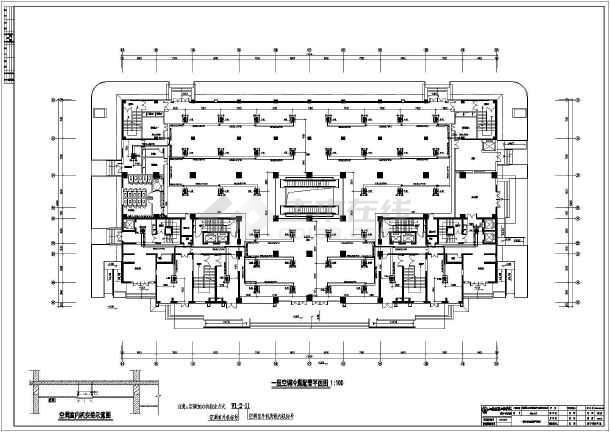 至二十层为两个一梯四户的塔式住宅.图纸包含各层空调平面图、系统