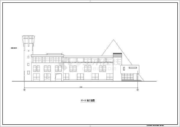 某地三层框架结构幼儿园建筑设计施工图