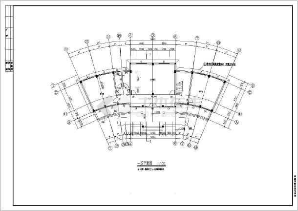 某地农村三层框架结构老年活动中心建筑施工图