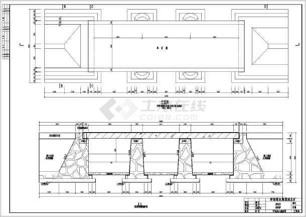 某地三跨钢筋混凝土结构桥梁结构施工图